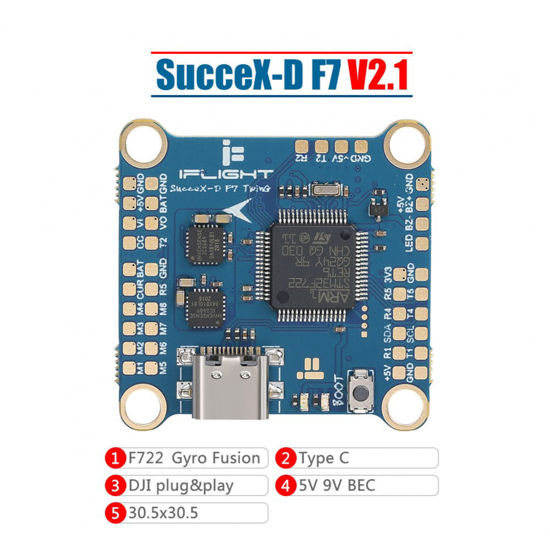 Picture of SucceX-D F7 V2.1 TwinG Flight Controller (HD Version)